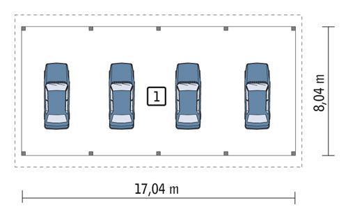 Rzut parteru POW. 132,5 m²
