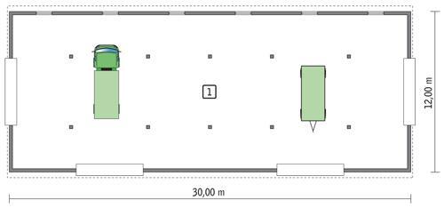 Rzut parteru POW. 338,1 m²